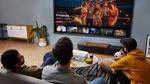 Großformatiges 4K-Entertainment an der Wohnzimmerwand
