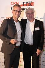 Heiko Lühr (links) mit CRN-Chefredakteur Martin Fryba