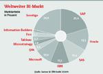 Die Anteile der Hersteller am weltweiten Software-Markt für Business Intelligence in allen Spielarten einschließlich Analytics zeigen 2014 eine deutliche Konzentration.