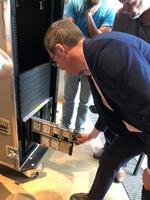 Peter Dümig, Senior Server Product Manager, bei der Vorstellung der neuen Blades