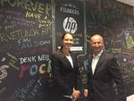 HPs Channel-Verantwortliche Susanne Kummetz mit HP Deutschland-Chef Jan Riecher
