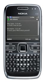 Der Client läuft auf dem Nokia E72 (hier) und dem E52 von Nokia.