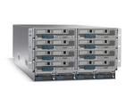 Ein UCS-5100-Blade-Server-Chassis kann bis zu acht Server-Blades aufnehmen.