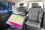 T-Mobile setzt bei den Tests mit LTE einen Kleinbus mit Mess-Ausrüstung ein.
