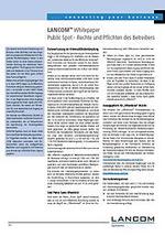 Lancom mit White-Paper für Public-Hotspot-Betreiber