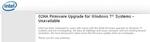 Firmware-Upgrade für Intels Flash-Speicher hat Probleme mit Windows 7