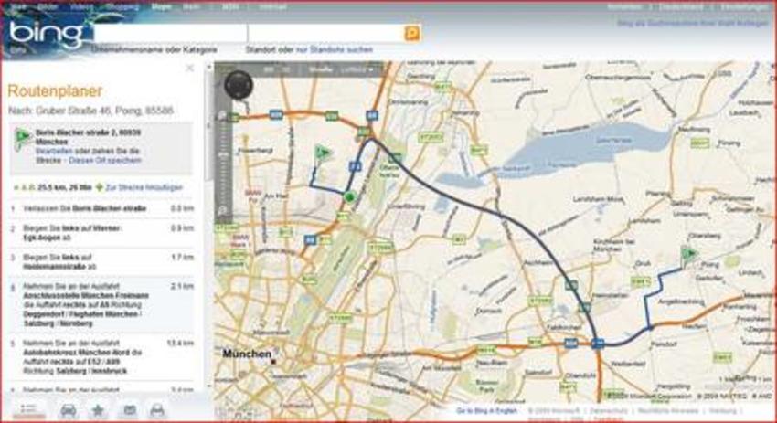 Bing maps vogelperspektive