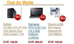 Netbook, NAS und Power-LAN im Amazon-Deal der Woche