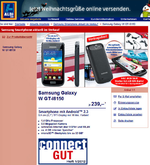 Aldi-Süd hat Galaxy W im Angebot