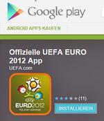 Die offizielle Euro 2012-App