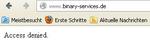 Abmahn-Systemhaus Binary Services ist offline