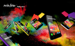 Farbenfroher Smartphone-Vierkerner