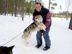 Mit dem Hundeschlitten durch Schweden