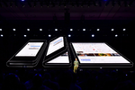 Samsung zeigt faltbares Smartphone