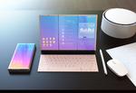 Klapp-Surface mit zwei Displays und Android
