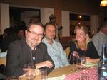 Barracuda EMEA-Chef Wieland Alge mit Christian Bosman und Corona Doasburg, die extra aus Holland auf den berg gereist sind