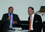 Thomas Egger, Wirtschaftsdezernent der Stadt Trier eröffnet die Messe gemeinsam mit IT-Haus-Geschäftsführer Thomas Simon