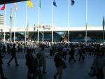 Die Dreamforce 2011 fand im Moscone Center statt. Dieser Messekomplex umfasst drei Ausstellungshallen und liegt in der Innenstadt von San Francisco.
