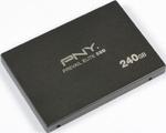 PNY Prevail Elite Schnittstelle: SATA (6Gb/s) Formfaktor: 2,5 Zoll Verfügbare Kapazitäten: 120 und 240 GByte (Foto: PNY)  Garantie: Fünf Jahre