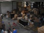 Eine Menge Arbeit für die Fahnder: Eine ganze Lagerhalle im hessischen Obertshausen war mit Plagiaten gefüllt (Foto Brother).