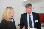 Carolin Schlüter (CRN) im Gespräch mit Maik Wetzel (Eset) (Bild: CRN)