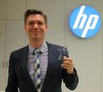 Jan Neumann von HP konnte zwar nicht anwesend sein, freute sich aber trotzdem sehr über seinen Stern in der Kategorie Drucker (Foto: HP)