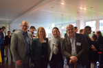 Michael Nerke (funkschau)zusammen mit Silke Stumvoll (Axis Communications), Claudia Rayling (funkschau) und Eckhart Traber von Lancom