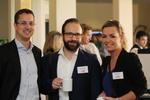 Dominic Mein von BenQ, Marco Goehring vom CRN-Partner Ebay und Carolin Schlüter von der CRN lächeln in die Kamera (Foto: CRN)