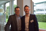 Marc Adelberg (CRN) begrüßte Michael Hitzelberger, Key Account Manager MSP von Tech Data – Azlan (v.li.) (Foto: CRN)