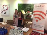 Begrüßung durch das sysob Team Verena Schoierer und Andrea Lyzwa (von links) (Bild: sysob)