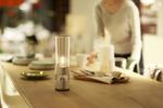 Sonys Glass Sound Speaker verteilt kristallklaren Sound gepaart mit warmem LED Licht in jeder Ecke des Raums (Bild: Sony)