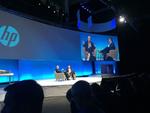 HP-CEO Dion Weisler mit Microsoft-Chef Satya Nadella bei der Eröffnung der Global Partner Conference (GPC) in Boston (Bild: CRN)
