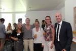 Malina Colombo (CRN), Sofie Steuer (funkschau), Susanna Heine, Michaela Mandel (beide Estos) und Matthäus Hose (WEKA FACHMEDIEN) sind bestens gelaunt (Bild: CRN)