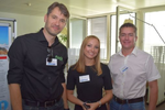 Oliver Keizer (Fidelis Cybersecurity), Malina Colombo (CRN) und Martin Peball (NET Solutions & EDV Service) (Foto: CRN)