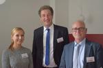 Malina Colombo (CRN), Franz Obermayer (Fox IT) und Joachim Helwig freuen sich auf einen erfolgreichen Solution Day(Merck IT) (Bild: CRN)