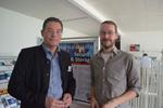 Uwe Schellenberg (say Tec) mit CRN-Redakteur Daniel Dubsky freuen sich auf einen spannenden Solution Day (Bild: CRN)