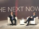 Michael Dell (links) mit Thomas Ramge, Technologie-Korrespondent des Wirtschaftsmagazins Brand eins, der die Digitalkonferenz moderierte (Bild: CRN)