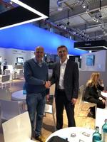 Gute Kontakte zwischen Distribution und Hersteller: Tech Data-Chef Michael Dressen  (links) und Sascha Lekic, Director IM B2B Samsung Deutschland (Bild: CRN)