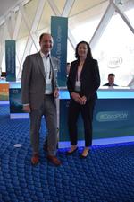 Cisco BU-Leiter Jörg Richter und Managing Director Barbara Koch (beide Techdata) tauschten sich auch mit CRN aus (Foto: CRN)