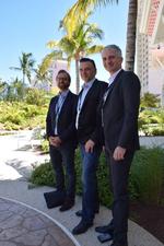 Gestern München auf der IM Top, vor zwei Wochen Nassau/Bahamas: Ingram Micro BU-Leiter Cisco, Gerhard Artjelan, eingerahmt von den Cisco-Managern Stéphan Anger und Falko Binder (Foto: CRN)