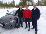 Noch wissen Jan Kapitza von Buffalo und die beiden Buffalo-Partner Dennis Nicola (Prokom) und Andreas Kühne (Com Elektronik Kühne) noch nicht, was sie erwartet (Foto: Buffalo)