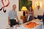 Im Hotel Bayerischer Hof in Rimbach wurden die Gäste durch Thomas Stahl und Jacqueline Winter von Sysob begrüßt (Bild: Sysob)