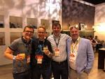 Die fantastischen Vier: Kai Osthoff (Osthoff Innovations), Friedrich Holstein (Honaco Informationstechnologie), Saša Knifić (analog IT) und Maximilian Pfister (Niteflite Networxx) (Foto: Rand Larson)