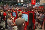 Großer Andrang an den Stände der Branchführer wie hier bei Nintendo (Bild: Koelnmesse)