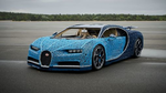 Lego hat den Super-Sportwagen »Bugatti Chiron« mit einer Million Legosteinen in Originalgröße funktionsfähig nachgebaut (Bild: Lego)
