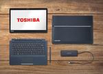 Das Portégé X30T-E verfügt über einen USB-Typ C-Anschluss, mit dem es auch über das Tastatur-Dock aufgeladen werden kann. (Bild: Toshiba)