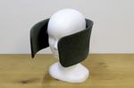 Kopfhörer mit Scheuklappen: »Wear Space« soll Nutzer von akkustischen und optischen Ablenkungen abschotten (Foto: Future Life Factory)