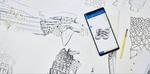 Die Schnitt- und Stoffmuster sowie die Verschlüsse wurden alle mit dem feinen S Pen auf das große 6,4-Zoll-Display des Galaxy Note 9 gezeichnet – ähnlich wie mit einem klassischen Stift auf Papier (Bild: Samsung)