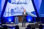 Und dabei spielt das Thema Künstliche Intelligenz eine wichtige Rolle, wie auch Channel-Chef Gregor Bieler betonte (Bild: Microsoft)