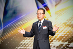 Auch Fujitsu-Präsident Tatsuya Tanaka fühlt sich in München Riem schon fast wie zu Hause (Bild: Fujitsu)